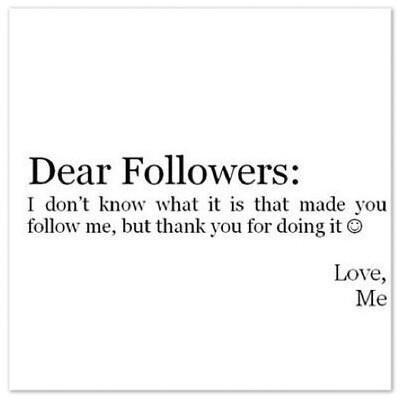 dear followers